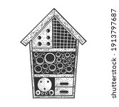 insect hotel house sketch...   Shutterstock .eps vector #1913797687
