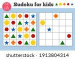 sudoku. kids and adult...   Shutterstock .eps vector #1913804314