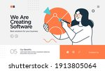 landing page template of... | Shutterstock .eps vector #1913805064