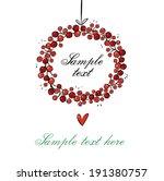 wreath for card | Shutterstock .eps vector #191380757
