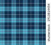 teal blue grid gingham.... | Shutterstock .eps vector #1913814454