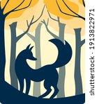 illustration of blue silhouette ...   Shutterstock .eps vector #1913822971