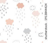 rainy weather sky seamless... | Shutterstock .eps vector #1913844424