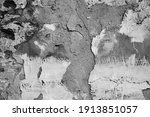 grunge wall background. old dry ... | Shutterstock . vector #1913851057