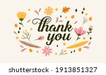 thank you vector greeting card... | Shutterstock .eps vector #1913851327