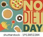 international no diet day. junk ... | Shutterstock .eps vector #1913852284