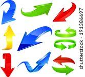 arrow icon set. raster copy. | Shutterstock . vector #191386697