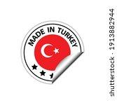 made in turkey  vector stamp....   Shutterstock .eps vector #1913882944