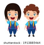 happy cute beautiful smart... | Shutterstock .eps vector #1913885464