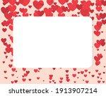 valentine's day concept frame ... | Shutterstock .eps vector #1913907214