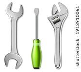 realistic set of tools of...   Shutterstock .eps vector #1913910061