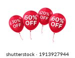 discounts on red balls ... | Shutterstock .eps vector #1913927944