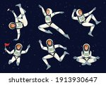 Cartoon Astronauts. Spaceman...