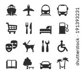 set of icons for locations and... | Shutterstock . vector #191393231