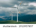 A Wind Farm Located In The...