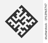 simple maze or labyrinth icon... | Shutterstock .eps vector #1913965747