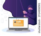 hacker activity. hacking... | Shutterstock .eps vector #1914008581