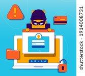 hacker activity. hacking... | Shutterstock .eps vector #1914008731