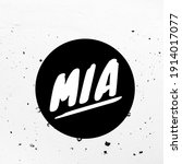 Mia Name In Text 3d Illustration