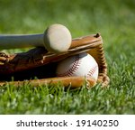a baseball field with a leather ... | Shutterstock . vector #19140250