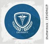 Medical badge symbol,vector