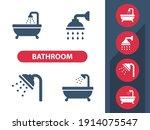 bathroom   bath   shower icons. ... | Shutterstock .eps vector #1914075547