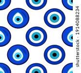seamless pattern with nazar... | Shutterstock .eps vector #1914088234