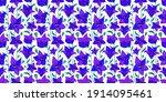 modern flower seamless pattern... | Shutterstock .eps vector #1914095461