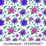 modern flower seamless pattern... | Shutterstock .eps vector #1914095467
