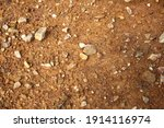 wet ground  yellow soil and... | Shutterstock . vector #1914116974