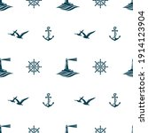 nautical seamless pattern with... | Shutterstock .eps vector #1914123904
