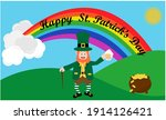 St. Patrick's Card With An Elf  ...