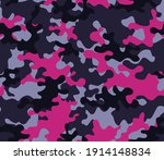 camouflage purple pattern ... | Shutterstock .eps vector #1914148834