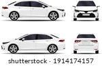 realistic car. sedan. front... | Shutterstock .eps vector #1914174157