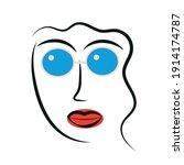 woman portrait in modern... | Shutterstock .eps vector #1914174787