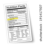 nutrition facts label. fat... | Shutterstock .eps vector #191417507