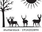 deer illustration clipart ... | Shutterstock .eps vector #1914202894