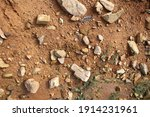 wet ground  yellow soil and... | Shutterstock . vector #1914231961