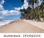 scenic oceanfront royal palm... | Shutterstock . vector #1914261214