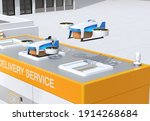 Delivery Drones Takeoff And...