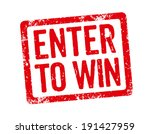 red stamp   enter to win | Shutterstock . vector #191427959