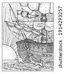 black and white marine...   Shutterstock .eps vector #1914293257