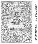 black and white marine...   Shutterstock .eps vector #1914293584