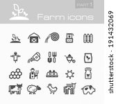 farm icons part 1 | Shutterstock .eps vector #191432069