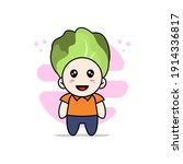 cute courier character wearing... | Shutterstock .eps vector #1914336817