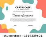 modern certificate template... | Shutterstock .eps vector #1914339601