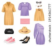 women fashion realistic set...   Shutterstock .eps vector #1914361777
