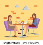 characters eating fast food... | Shutterstock .eps vector #1914409891