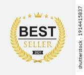best seller badge icon logo...   Shutterstock .eps vector #1914415837