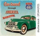 vintage travel poster | Shutterstock .eps vector #191441921
